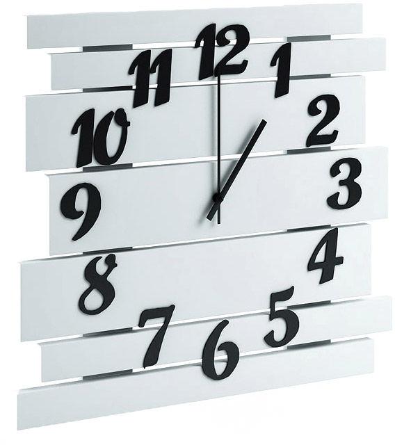 Biały zegar ścienny - Samar