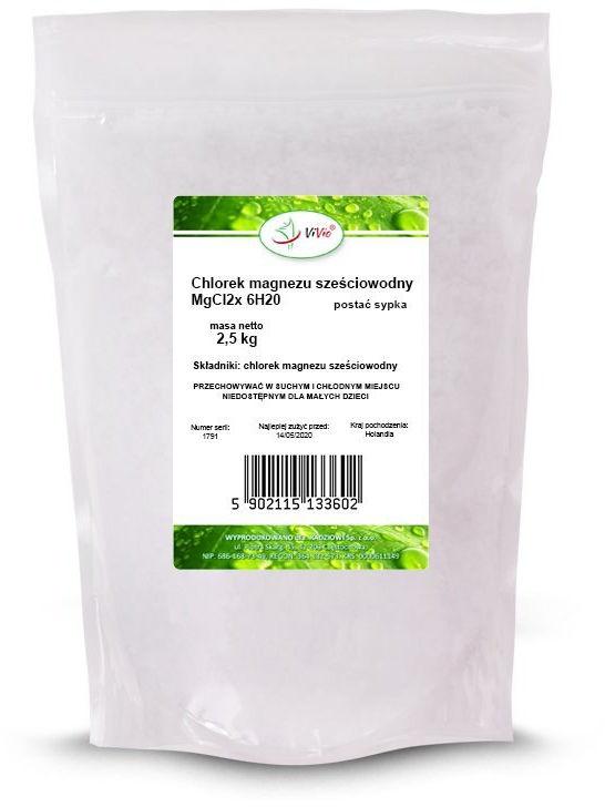 Chlorek magnezu sześciowodny 2,5 kg