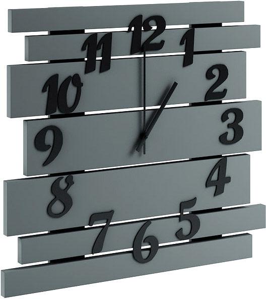 Szary zegar ścienny z drewna - Samar