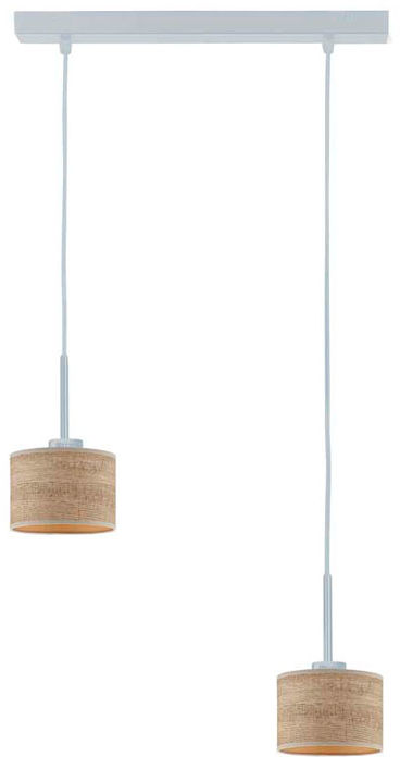 Lampa wisząca w stylu boho na srebrnym stelażu - EX437-Montans - 4 kolory