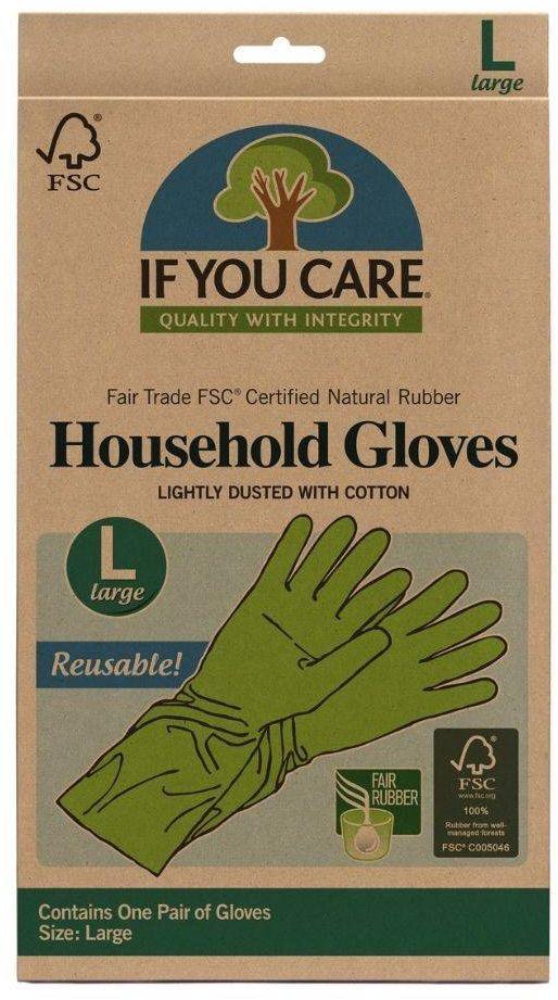 Wielorazowe rękawiczki lateksowe L If You Care - 1 para