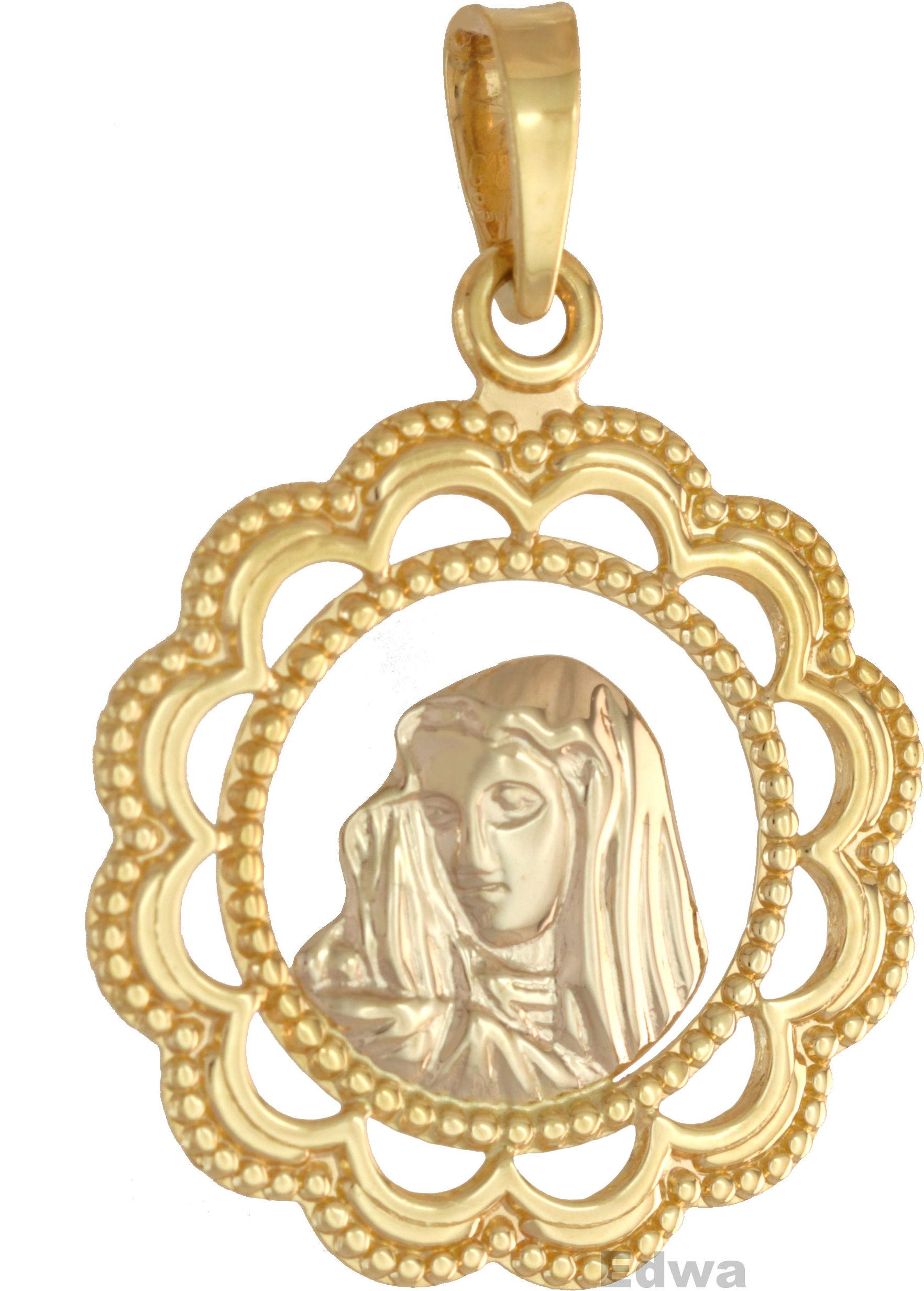Zawieszka złota medalik pr.585