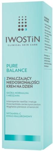 Iwostin Pure Balance zwalczający niedoskonałości krem na dzień 50 ml