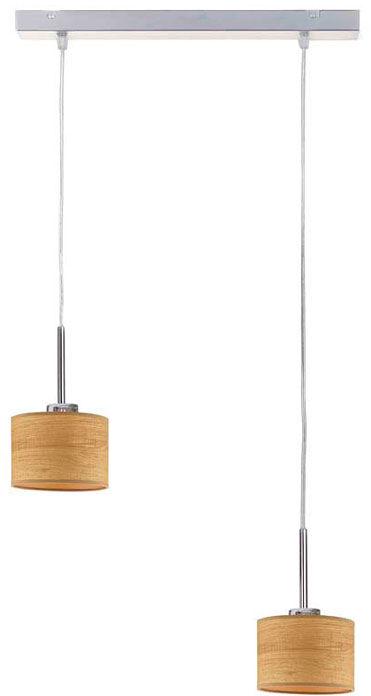 Lampa wisząca boho nad stół na chromowanym stelażu - EX438-Montans - 4 kolory