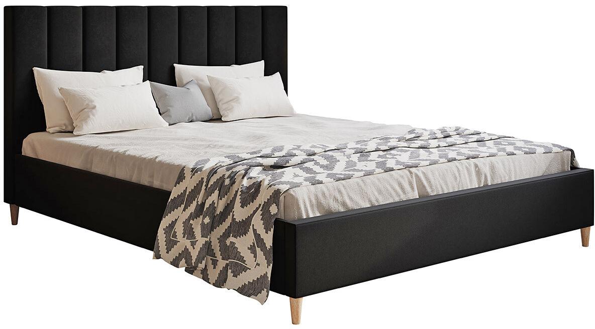 Tapicerowane łóżko z zagłówkiem 160x200 Diuna - 48 kolorów