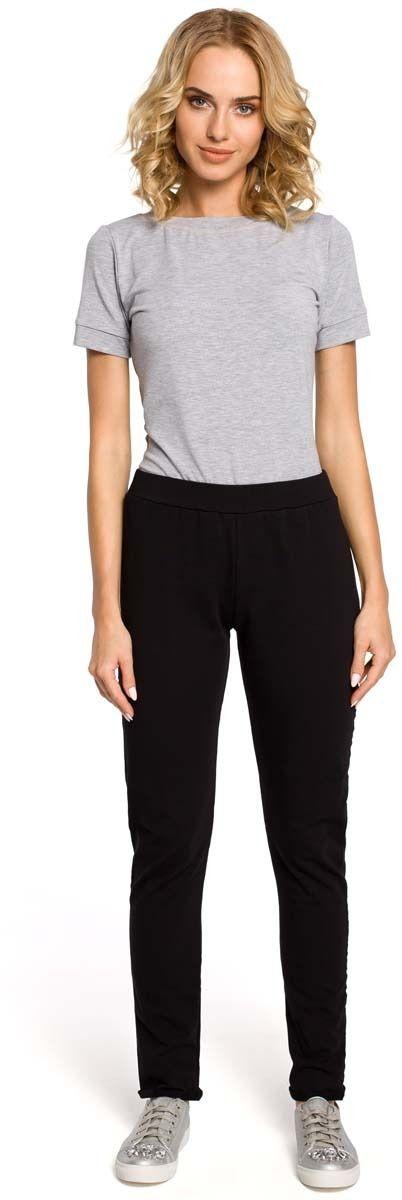 Czarne dresowe spodnie z dzianiny