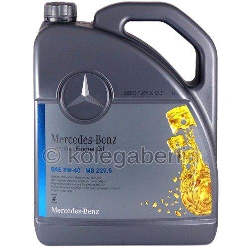 Oryginalny olej silnikowy Mercedes 5W40 MB 229.5 5L