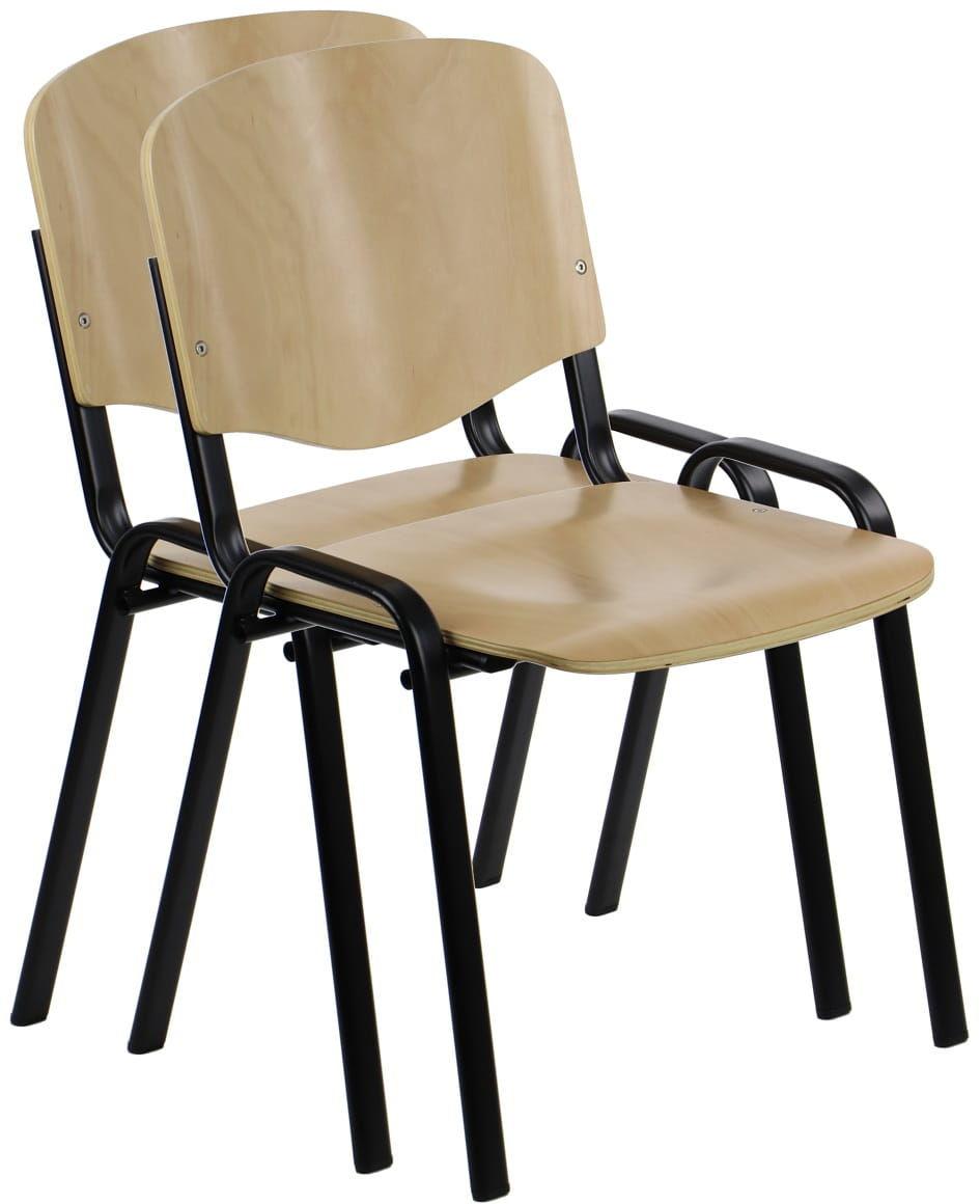 Krzesło ze sklejki typu ISO, stelaż czarny. Model TDC-07