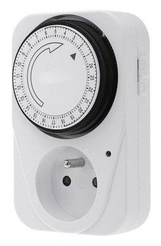 Wyłącznik czasowy 24 godz., 1 funkcyjny 7,5x11,5x5,5 cm 230 V / 16 A, 50 Hz