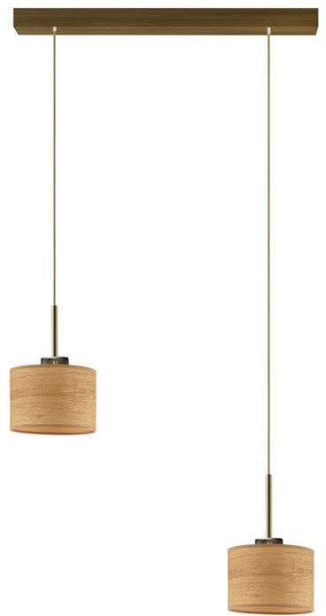 Lampa wisząca podwójna na złotym stelażu - EX440-Montans - 4 kolory