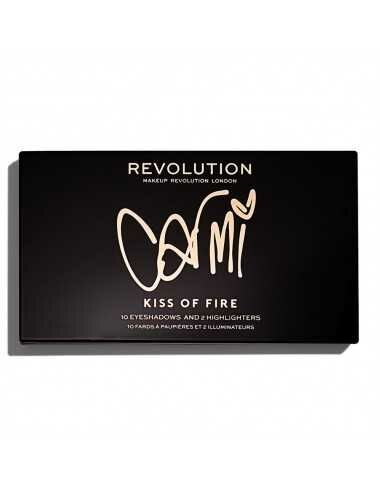 Makeup Revolution X Carmi Kiss Of Fire paleta cieni