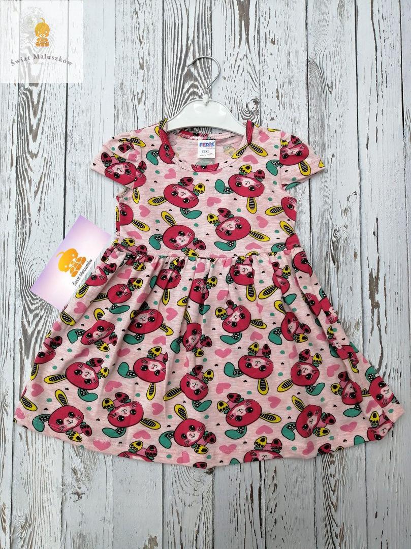 Sukienka dla dziewczynki w króliczki