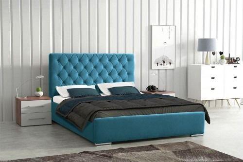 Łóżko tapicerowane florencja 160/200 slim + 2 pik - niebieskie