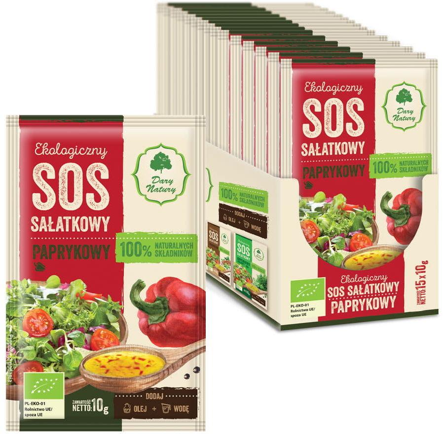 Sos sałatkowy paprykowy bio 10 g - dary natury