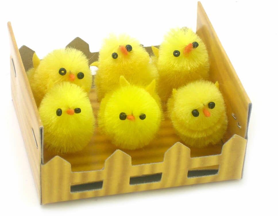 Kurczaczki Wielkanocne - 3 cm - 6 szt.