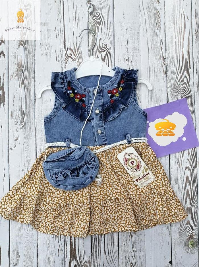 Sukienka dla dziewczynki z torebką