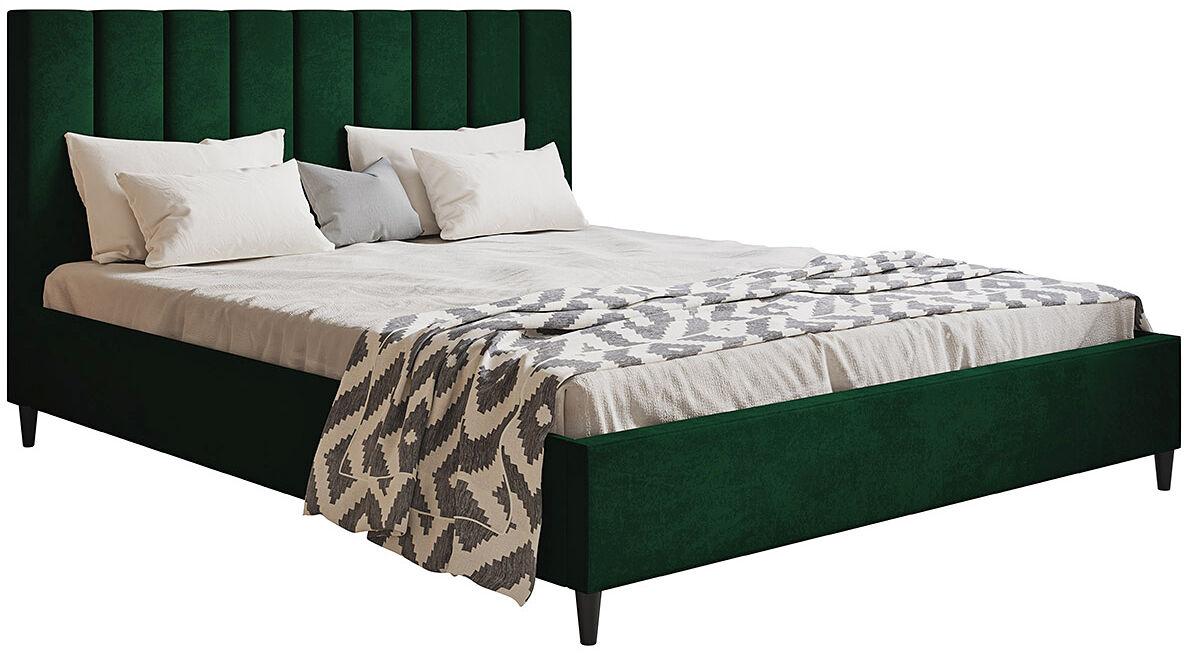 Dwuosobowe łóżko z zagłówkiem 180x200 Diuna - 48 kolorów