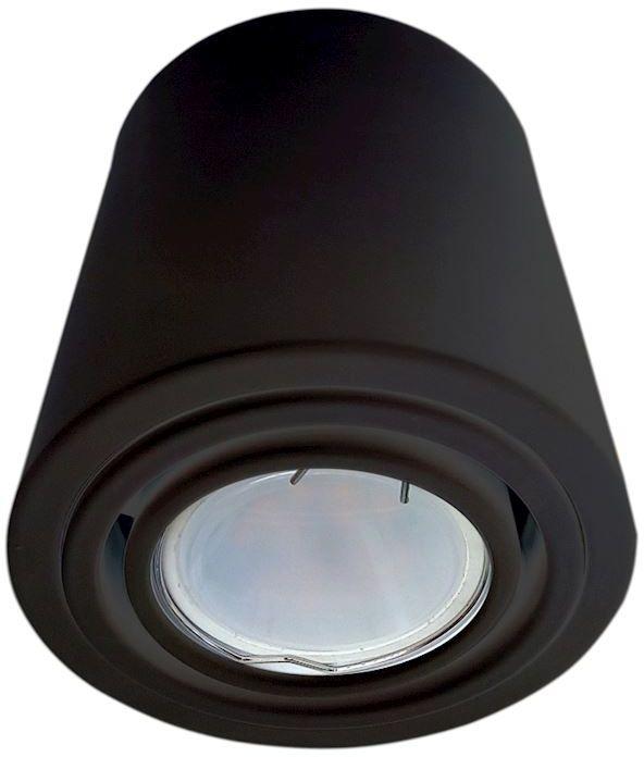 Milagro TUBO BLACK ML225 plafon lampa sufitowa metalowa tuba czarna nowoczesna 1X7W LED GU10 9,5cm