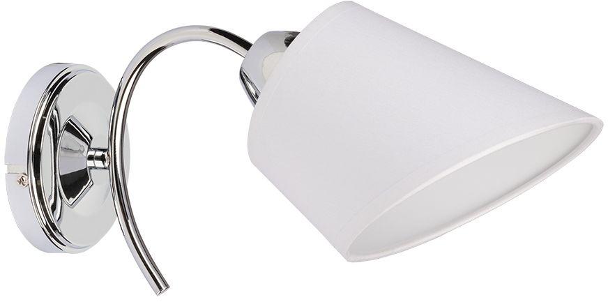 Spot Light 8341128 Mette kinkiet lampa ścienna metalowy chrom abażur tkanina biały 1xE27 40W 30cm
