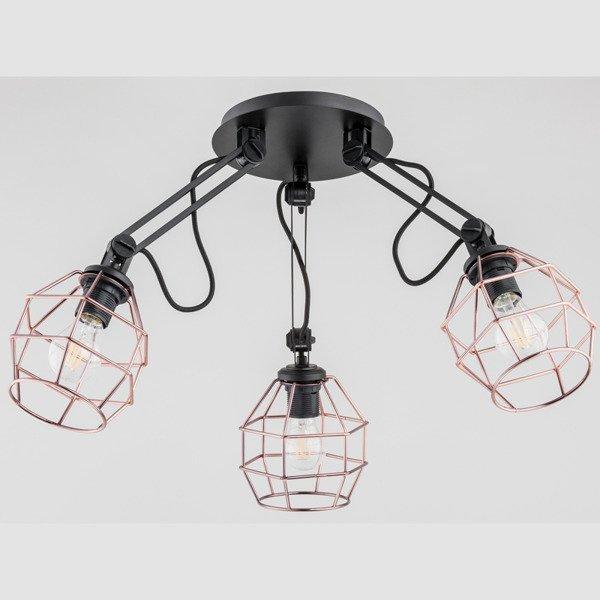 Lampa druciak DARTH BLACK miedź III 65cm - miedziany
