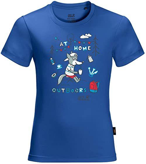 Jack Wolfskin Unisex Happy Camper T Kids T-Shirt Coastal Blue 176