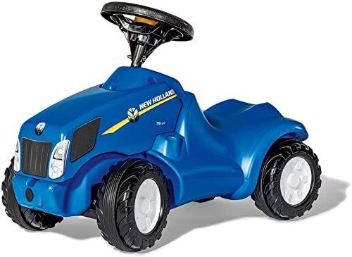 Rolly Toys rollyMinitrac NH T6010 (dla dzieci w wieku od 1,5 do 4 lat, miejsce do przechowywania pod maską silnika, cicha opona biegowa) 132089