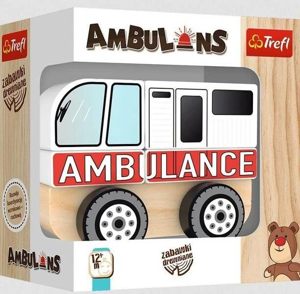 Zabawka drewniana - Ambulans TREFL