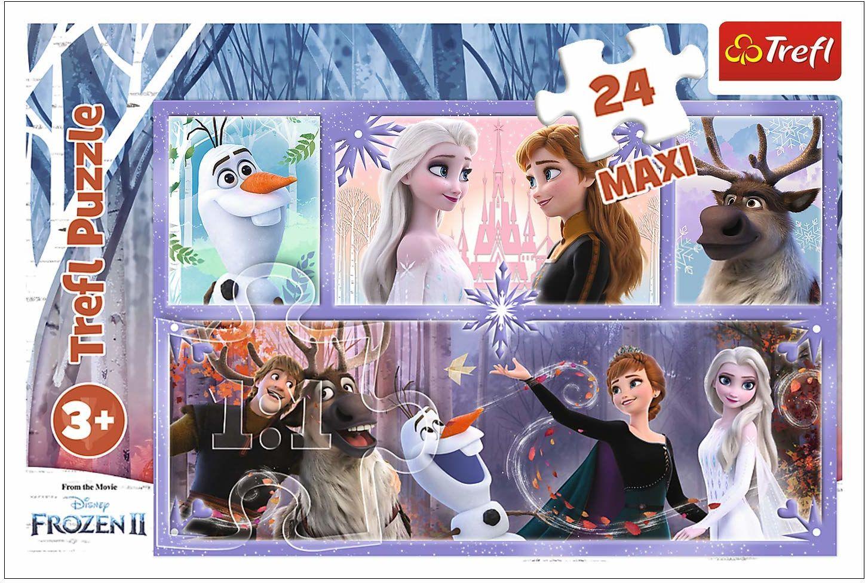 Trefl Świat Pełen Magii Puzzle 24 Maxi o Wysokiej Jakości Nadruku dla Dzieci od 3 lat
