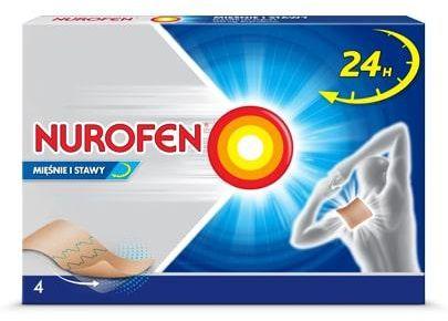 Nurofen mięśnie i stawy plaster leczniczy 200mg 4 sztuki