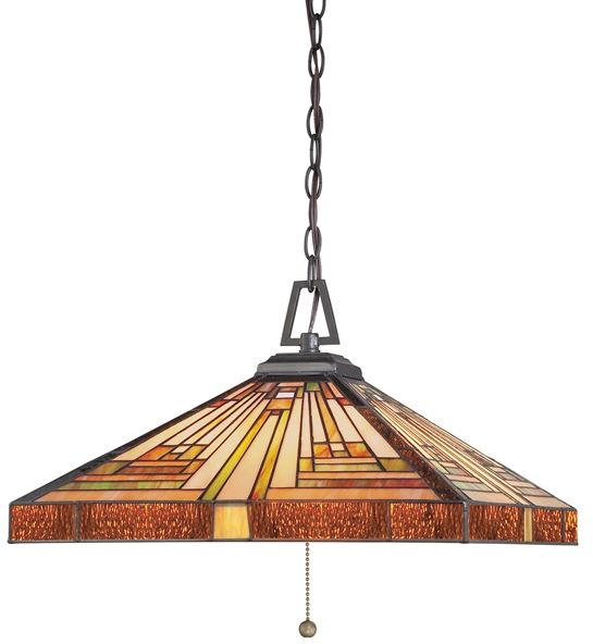 Lampa wisząca witrażowa TIFFANY STEPHEN QZ/STEPHEN/3P - Elstead Lighting - SPRAWDŹ RABATY 5-10-15-20 % w koszyku