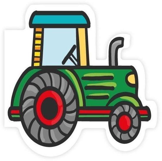Karnet wycinany - Traktor