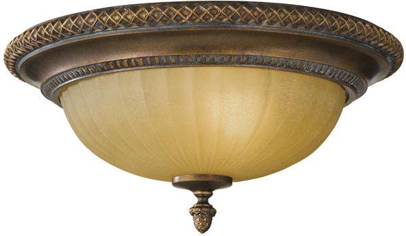 Plafon Kelham Hall FE/KELHAM HALL/F Feiss klasyczna oprawa w kolorze brązu