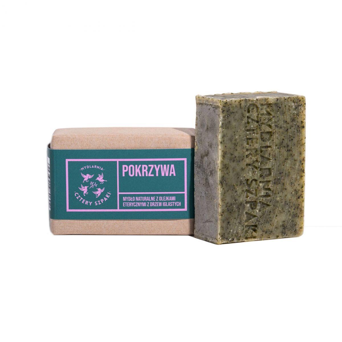Mydło Pokrzywa z olejkami eterycznymi z drzew iglastych - 110g - Cztery Szpaki