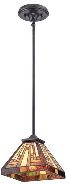 Lampa wisząca witrażowa TIFFANY STEPHEN QZ/STEPHEN/MP - Elstead Lighting - SPRAWDŹ RABATY 5-10-15-20 % w koszyku