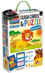 Zabawa i edukacja Puzzle Dziecięce i Flashcards - Zwierzęta 72675 (304-PL72675)