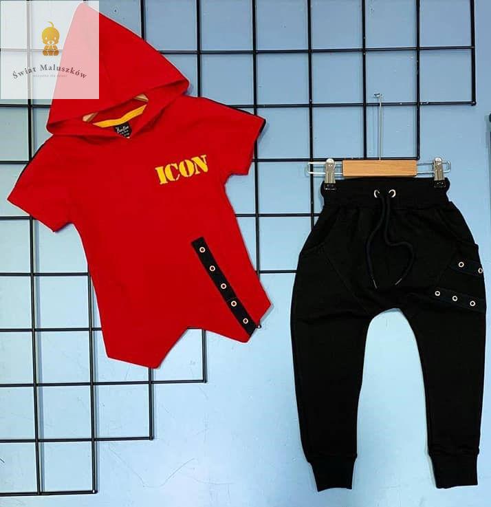Komplet 2-częściowy czerwono-czarny