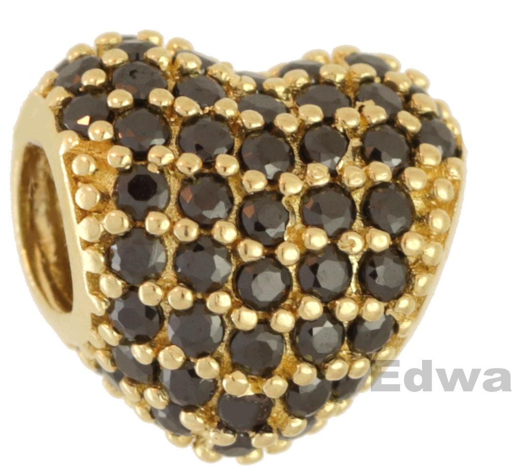 Zawieszka złota Serce z kamieniami, wzór Pandora pr.585