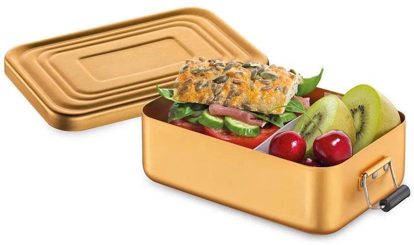 Kuchenprofi - pojemnik na lunch - 18 12 6 cm - złoty matowy