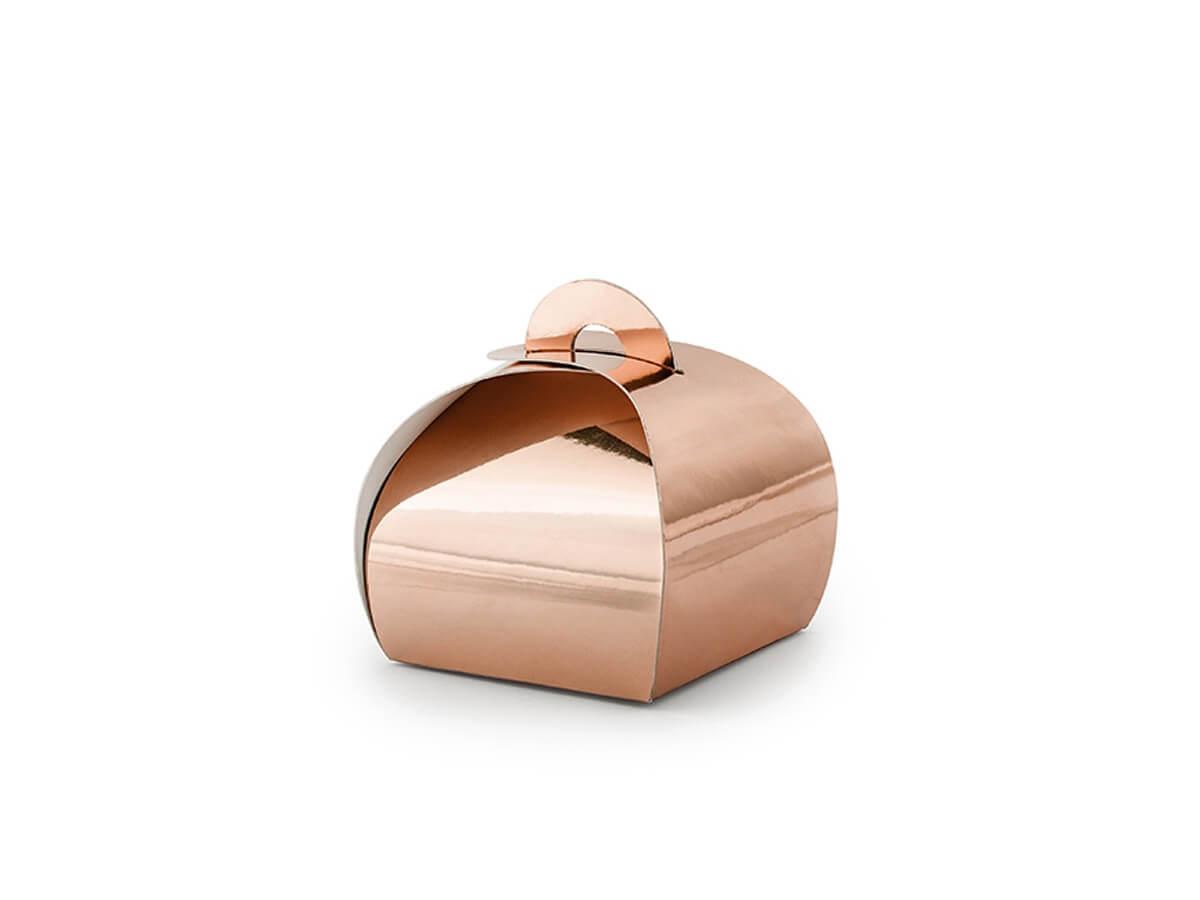 Pudełeczka dla gości złoto-różowe - 10 szt.