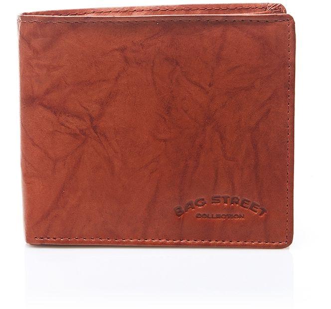 Skórzany męski portfel duży brązowy C65
