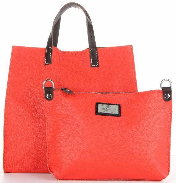 Torebki Skórzane 2w1 ShopperBag i Listonoszka firmy Genuine Leather Malinowe (kolory)