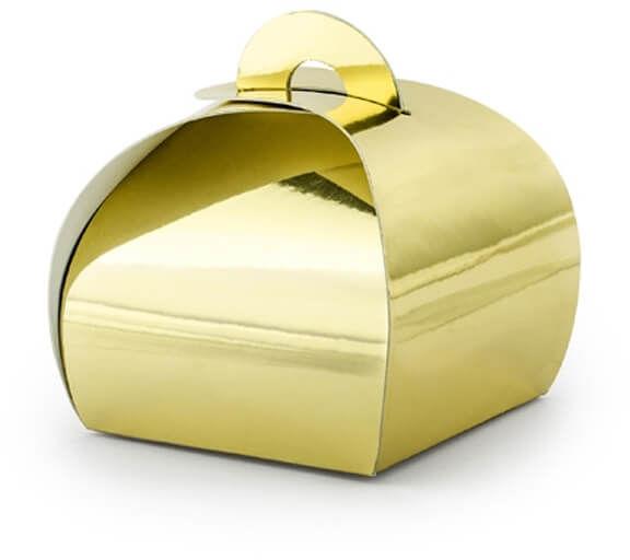 Pudełeczka dla gości złote - 10 szt.