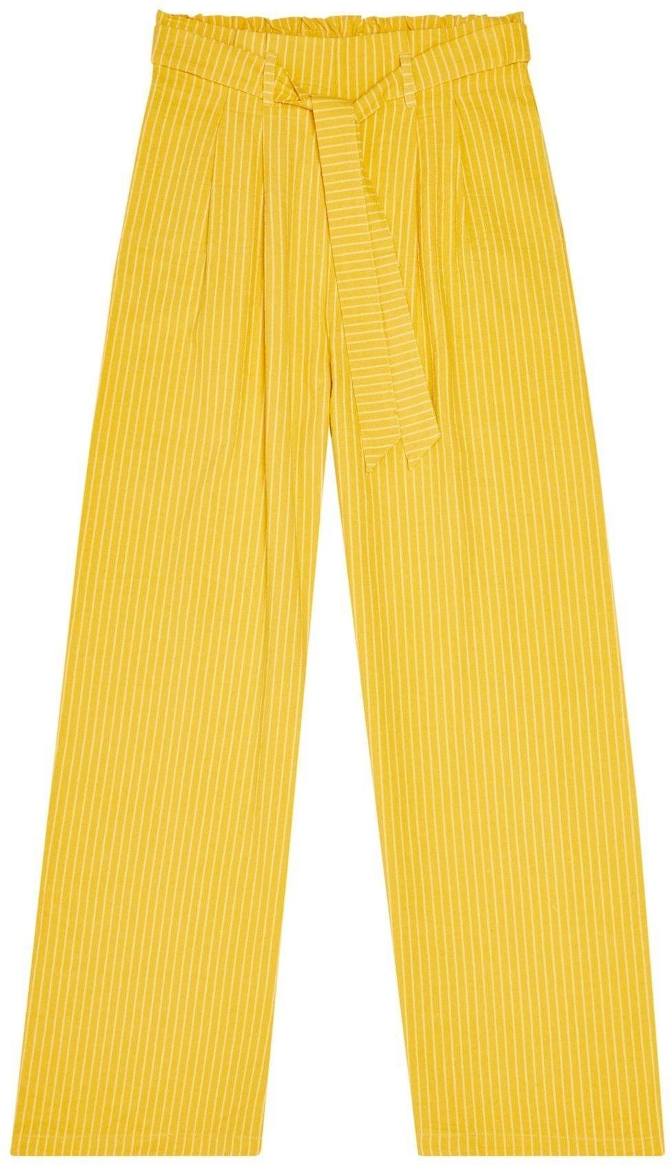 Szerokie spodnie z wysokim stanem