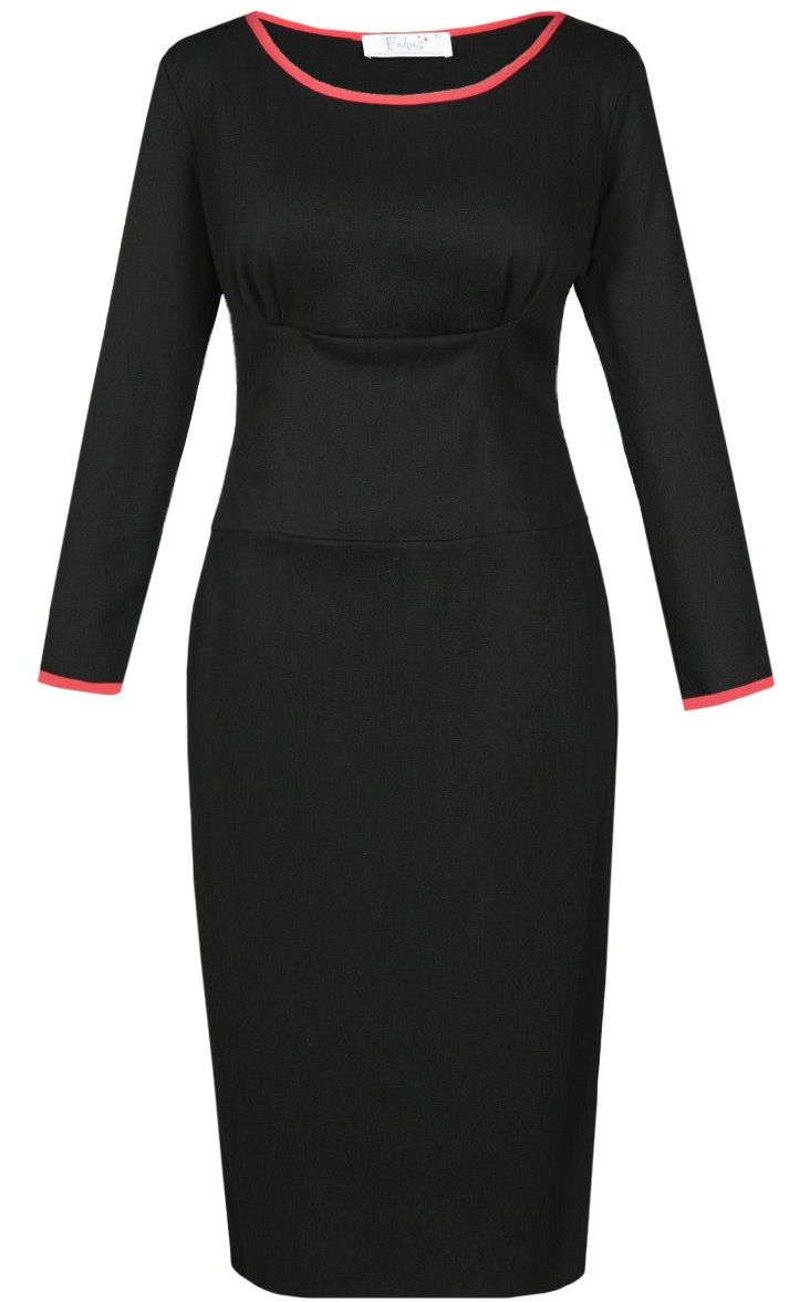 Sukienki Sukienka Suknie FSU761 CZARNY