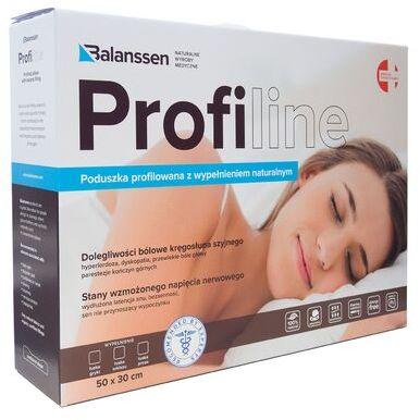 Balanssen ProfiLine, ortopedyczna poduszka profilowana z wypełnieniem naturalnym