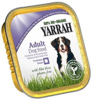 Pasztet dla psa z kurczaka, wołowiny i indyka z aloesem bio 150 g - yarrah
