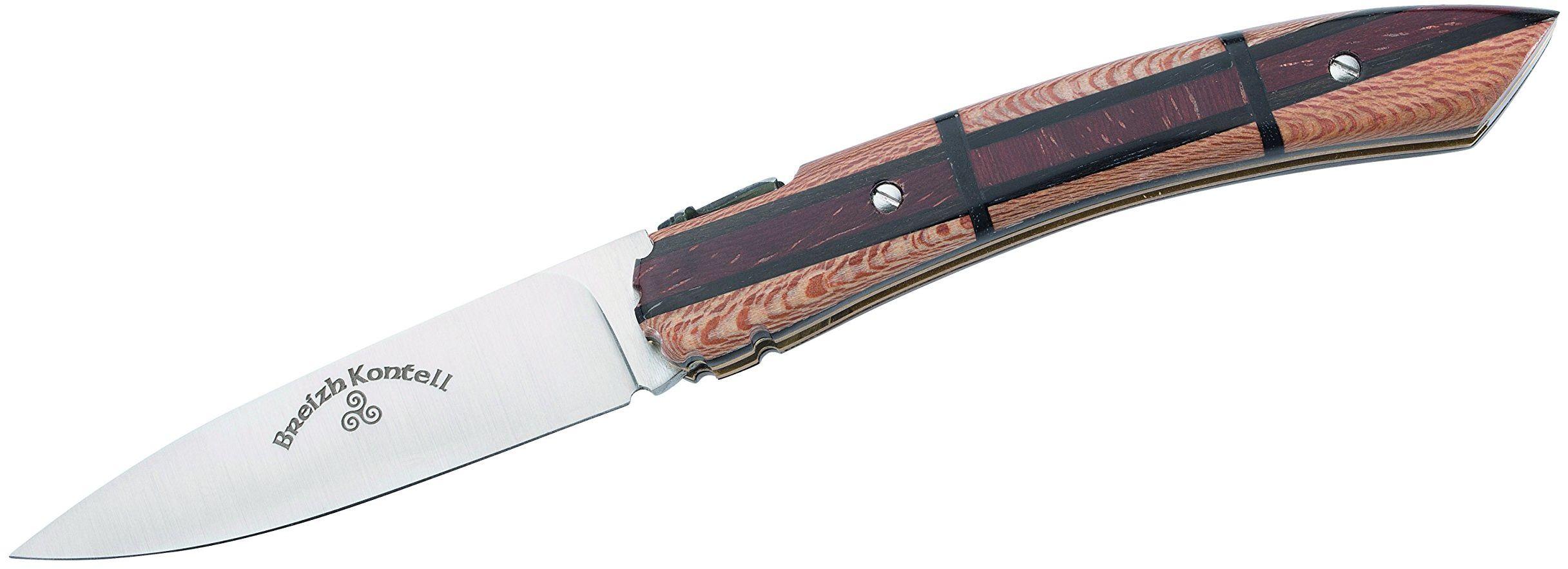 L''Atelier des Couteaux BREIZH KONTELL scyzoryk z drewna hebanowego, niebieski, M