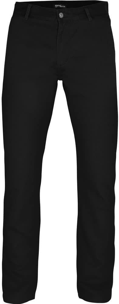 Asquith Fox Chino Letnie zwykłe bawełniane klasyczne spodnie, czarne, W32/L34 (Rozmiar producenta: 32T)