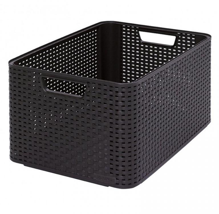 Plastikowe pudełko do przechowywania STYLE BOX - L- brązowy