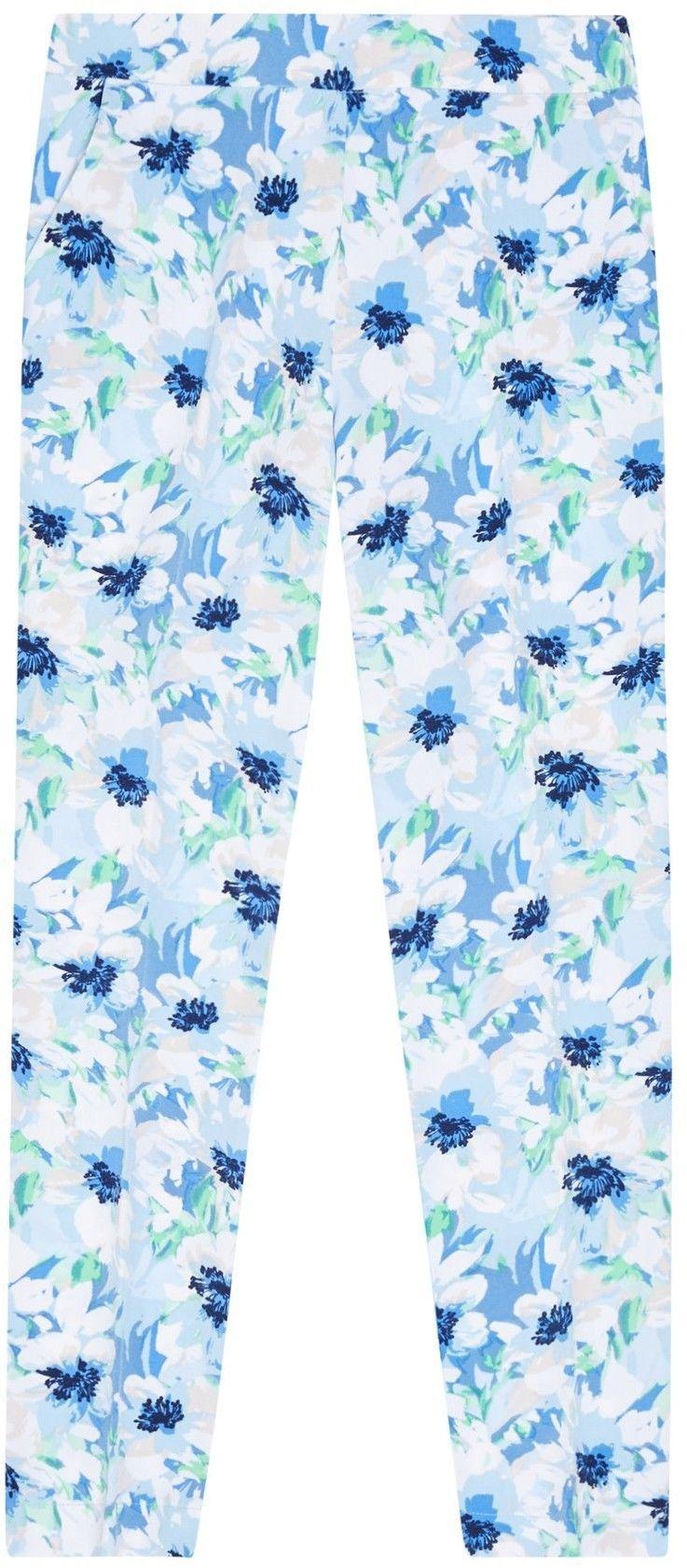 Spodnie cygaretki w kwiaty